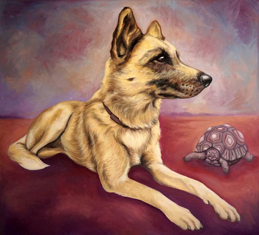 Ritratto di Ivy, ritratto cane