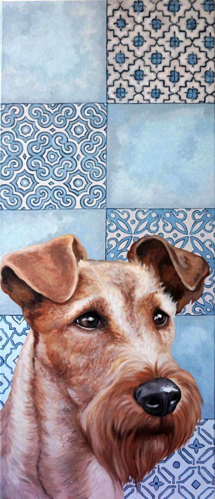 Ritratto di Irish terrier, ritratto cane